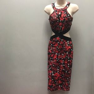 Bebe, size XS, two piece black and red dress